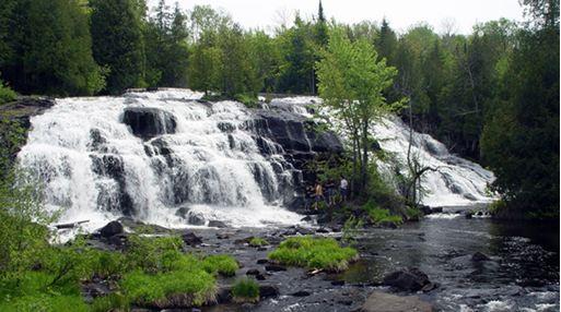 Waterfalls around Lake Gogebic