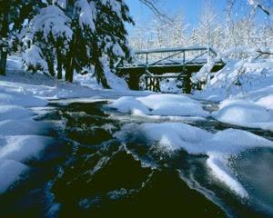 Porcupine Mountains Winter Bridge